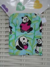 LOVE PANDA FABRIC PURSE PURSES WALLET COINS COIN MONEY LINED UNIQUE  PANDAS NEW