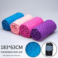 Antideslizante yoga toalla cubierta manta deporte fitness ejercicio pilates