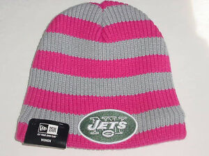 New Era NEW YORK N Y JETS Women's Breast Cancer Awareness Knit Stocking Cap/Hat