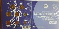 Offiz. KMS / Kursmünzensatz 1 Cent - 2 Euro Frankreich 2019 * BU * im Blister