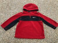 The Children's Place Red & Blue Fleece Sweater 3T