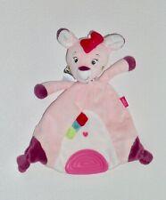Baby Fehn REH BAMBI REHKITZ Schmusetuch Schnuffeltuch Kuscheltuch rosa wie Neu