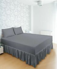 Fitted Bed Ruffle Skirt king Easy Fit Bed Skirt Queen Premium Quality Bed Skirt
