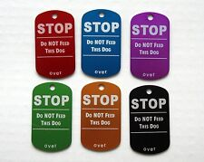 STOP: DO NOT FEED THIS DOG - Custom Pet Tag Medium