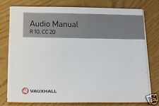 VAUXHALL OPEL CORSA ASTRA VECTRA ZAFIRA AUDIO MANUAL R 10 , CC 20 PACK 6706