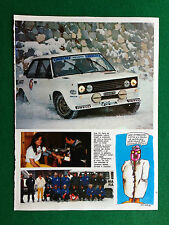 PV213/214 Pubblicità Advertising Werbung Clipping (1981) 31x23 - FIAT 131 RALLY