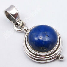 """925 Sterling Silver Fancy NAVY BLUE LAPIS LAZULI Pendant 1"""" ONE OF A KIND"""