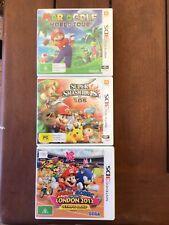 Nintendo 3ds Games Mario Golf, Super Smash Bros And Mario & Sonic Olympic Games