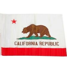 Small 12 Inch X 20 Inch Replacement Flag For Whip Antenna California Bear State