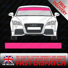 Pink Parabrisas SUNSTRIP coche furgoneta Calcomanías Gráficos Pegatinas de vinilo de carreras