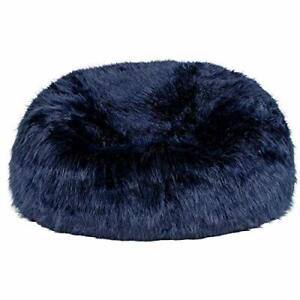 Navy blue Fur Bean Bag Cover Only (Without Beans) Bean bag XXXL Size