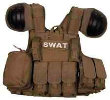 TATTICO VEST SWAT TACTICAL BODY ARMOR COYOTE TAN CB SPALLACCI SOFTAIR AIRSOFT
