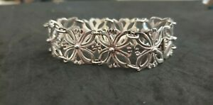 Vintage Mid Century Mexican Taxco Sterling Silver Signed I.L. Bracelet