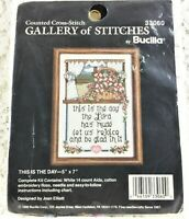 Bucilla - 14 Count Cross Stitch Kit - THIS IS THE DAY - Vintage 1990