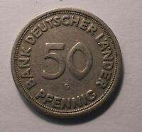 50 Pfennig Münze 1949 Kennzeichnung - G - Selten Gebraucht !TOP! 50PF K-1380