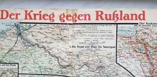 Map Card Germany 1915 Europe Battle Front defence France Rusian WW 1