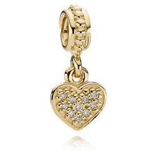 Authentic new Pandora 14K yellow gold and Diamond pendant/bead #750809D