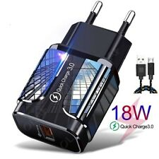 CARICABATTERIA RICARICA Rapida FAST CHARGE CHARGER 3.0 per SAMSUNG/IPHONE/HUAWEI