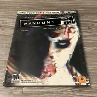 MANHUNT Official Strategy Guide PlayStation 2 PS2 Brady Games 2003