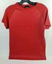 Men's Ballroom Dance Red Super Stretch Pleather Shirt Vtg Elee Sz Large