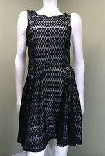 Lily Rose Black Polka Dot Lace Dress W/ White Underlay ~Size XL