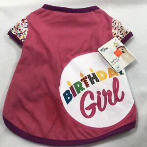 Dog Birthday Girl T-shirt You & Me Happy Birthday 15-17 Inches Medium