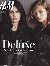 H & M Magazine Autumn 2014,Amanda Wellsh,Karlina Caune,Alexander Wang   NEW