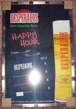※ DESPERADOS ※ Happy HourTableau Gesso Pubblicità Bar Bistrot cornice insegna