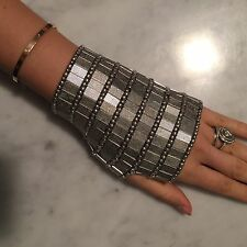 Chic Silver Unique Metal Glove Bead Bracelet Cuff