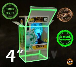 """ATV Glow  Protectors / Cases for 4"""" Funko Pop Vinyl (Pack of 10 or 1)"""