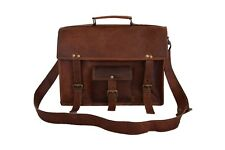 "Leather Briefcase Messenger 13"" Laptop Satchel CrossBody Messenger Shoulder Bag"