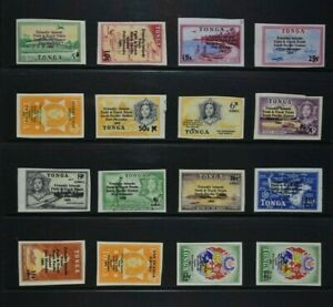 TONGA, a collection of 36 stamps for sorting, mainly MM condition.