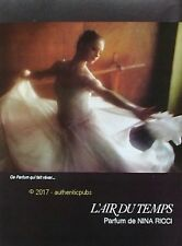 PUBLICITE NINA RICCI PARFUM L'AIR DU TEMPS DANSEUSE D. HAMILTON DE 1975 AD PUB