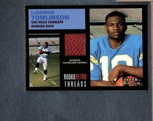 2001 Fleer Tradition Rookie Retro Threads #37 LaDainian Tomlinson FB HTY 441