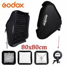 Godox 80x80cm foldable Bowens Mount Softbox Grid S-type Speedlite Bracket
