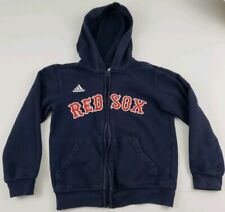 Adidas Boston Red Sox Child Full Zip Hoodie Size Small S (8) Sewn On MLB A24