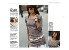 3/4 Arme Damenblusen,-Tops & -Shirts im Blusen-Stil mit Baumwolle für Freizeit
