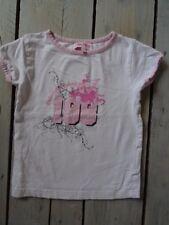 T-shirt blanc rose imprimé manches courtes FIVE MILES SPORT Taille 4 ans
