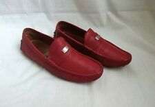 Gucci 'Camelot' Red Leather Moccasins