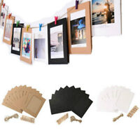Colgando álbum clip papel Kraft marco de fotos para boda Decoración guirnalda