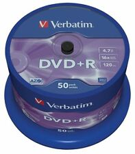 VERBATIM DVD + R Matt Silver 4.7 GB 16x SPINDLE 50 DVD
