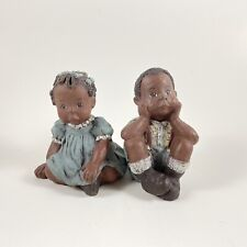 Sarah's Attic Granny's Favorites African American Children Figurines Made in Usa
