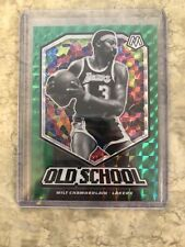 Wilt Chamberlain 2019-20 Panini Mosaic Green Prizm Old School #18 LA Lakers