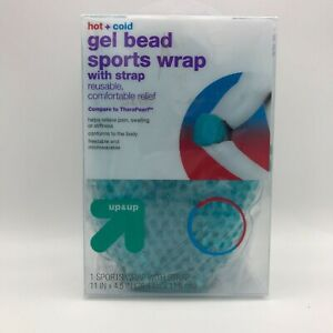 Hot & Cold Gel Bead Sports Wrap w/Strap Reusable Comfortable Relief 11in x 4.5in