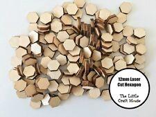 20 x 12mm Wooden Hexagon Laser Cut Shape Ply Blank Craft Hexagons Wood Shapes