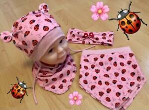 stylische Kinder Mädchen Teddyohren Mütze Frühling Baumwolle Jersey viele MOTIVE
