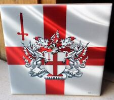 London - England  flag and city Coat of Arms CERAMIC TILE