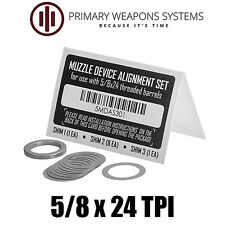 Primary Weapons Systems PWS Muzzle Brake/Device Alignment Set/Shim Kit (5/8x24)