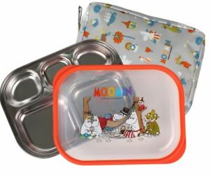 Cute Moomin Stainless Lunch Tray box in 5 parts