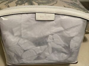 NEW! Kate Spade Sabine Medium Cosmetic Pouch/Case - Optic White/Clear ($69)